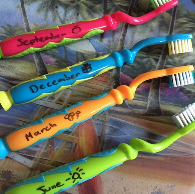 Toothbrush Labels
