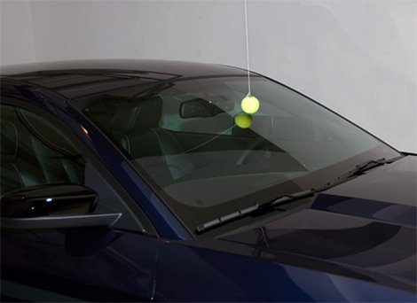 Use A Tennis Ball For Parking Accuracy